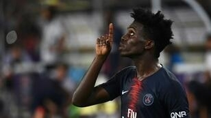 Timothy Weah (pictured August 2018), on loan from Paris Saint-Germain, came on with 20 minutes left to seal a comfortable start to Celtic's cup defense
