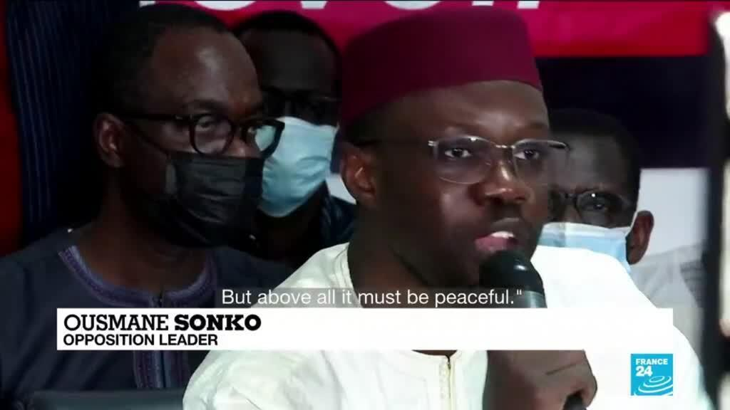 2021-03-09 09:42 Senegal opposition leader urges 'much larger', 'peaceful' protests