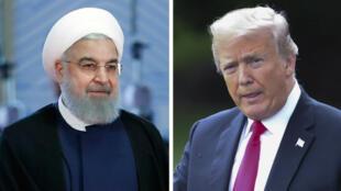Los presidentes de Irán, Hasan Rohaní (izquierda), y de Estados Unidos, Donald Trump (derecha).