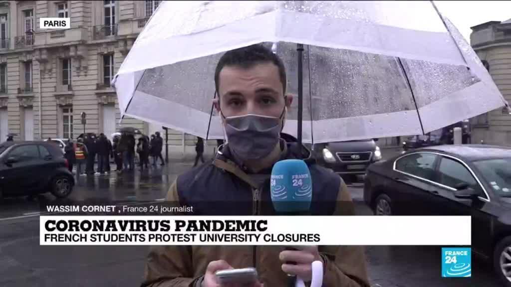 2021-03-16 13:07 Coronavirus pandemic: French students protest university closures