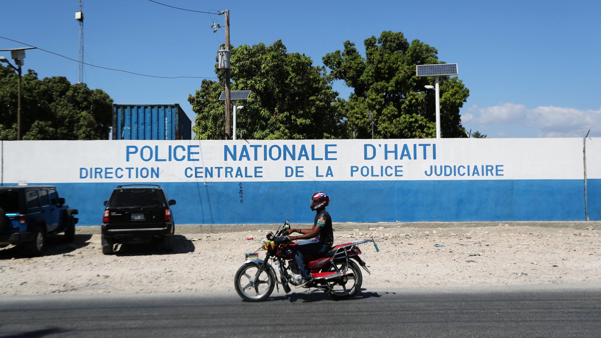 A police station in the Haitian capital Port-au-Prince.