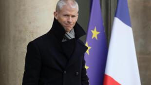 Franck Riester devant l'Elysée à Paris, le 19 février 2020