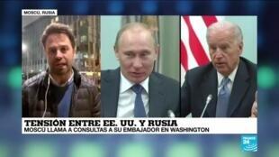 2021-03-18 00:07 Informe desde Moscú: Rusia anunció que llamó a consultas a su embajador en Washington