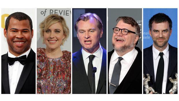 Jordan Peele, Greta Gerwig, Christopher Nolan, Guillermo del Toro y Paul Thomas Anderson