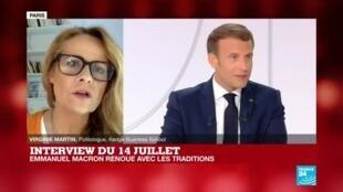 """2020-07-14 14:39 Interview du 14 juillet : Emmanuel Macron """"poussif, lent à réagir, employant beaucoup de mots creux"""""""