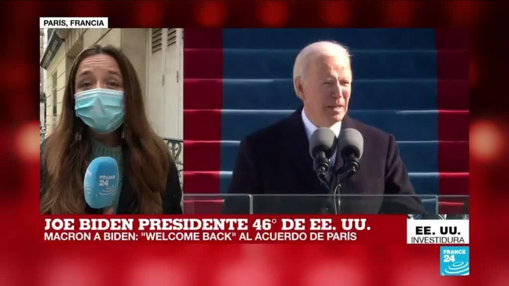 2021-01-20 20:12 Informe desde París: Macron le dio la bienvenida a Biden al Acuerdo de París