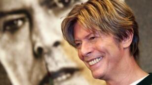 "British singer David Bowie, pictured in 2002, said ""Space Oddity"" was inspired by filmmaker Stanley Kubrik's epic film ""2001"""