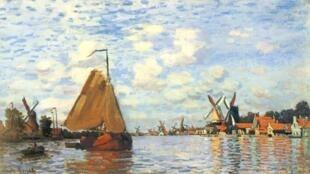 لوحة للفنان الفرنسي كلود مونيه
