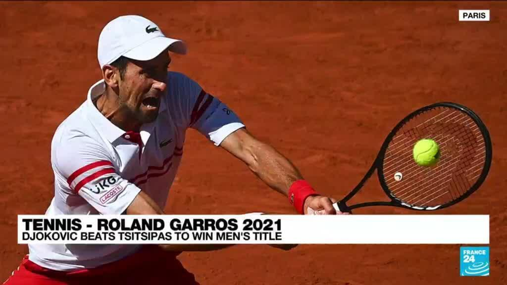 2021-06-13 21:12 Djokovic beats Tsitsipas to win French Open title