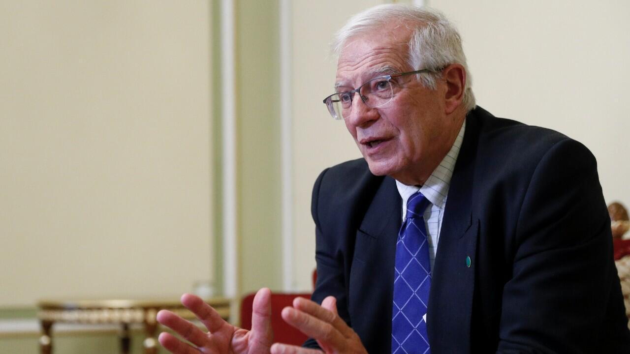 El jefe de política exterior de la Unión Europea, Josep Borrell, durante una entrevista con Reuters en Kiev, Ucrania, el 12 de octubre de 2021.
