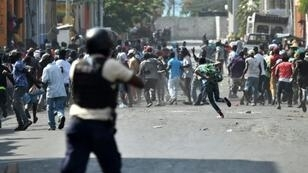 Haiti is still recovering from violent protests in February -- like this one in Port-Au-Prince -- calling for the resignation of President Jovenel Moise