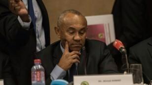 رئيس الاتحاد الافريقي احمد احمد خلال اجتماع اللجنة التنفيذية للاتحاد القاري في اكرا. 30 تشرين الثاني/نوفمبر 2018