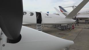 L'avion électrique Alice, au salon de l'aviation du Bourget, le 18 juin 2019.
