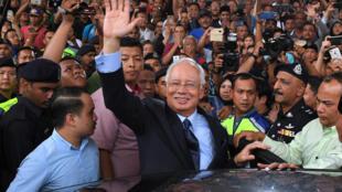 رئيس الوزراء الماليزي الأسبق نجيب رزاق في كولالمبور في أيلول/سبتمبر 2018