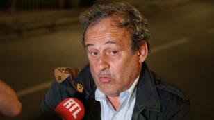 Michel Platini à la sortie de sa garde à vue, le 18 juin 2019, à Paris.