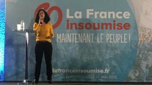 Manon Aubry, le 13 février 2019, à Souillac dans le Lot.