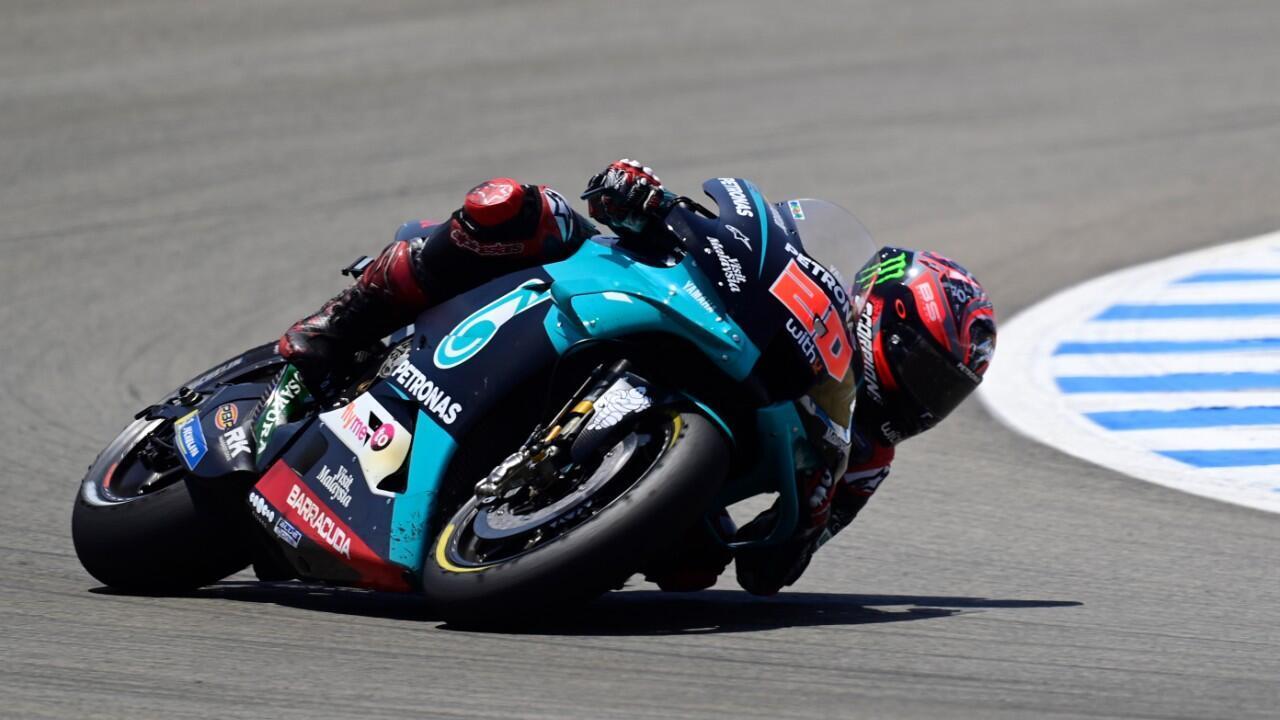 Fabio Quartararo a remporté, dimanche 19 juillet 2020, le Grand Prix d'Espagne de MotoGP, son premier succès dans la catégorie reine du sport moto.