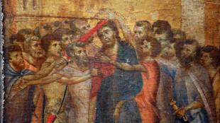 """Le panneau, un """"Christ moqué"""", a été découvert dans une cuisine près de Compiègne."""