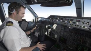 Un pilote d'Air France en 2014.