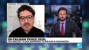 2020-02-29 13:01 Hameed Hakimi on France 24: US-Taliban peace deal is a significant historical moment