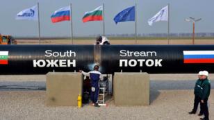 La construction du gazoduc South Stream avait démarré en Bulgarie le 31 octobre 2013.
