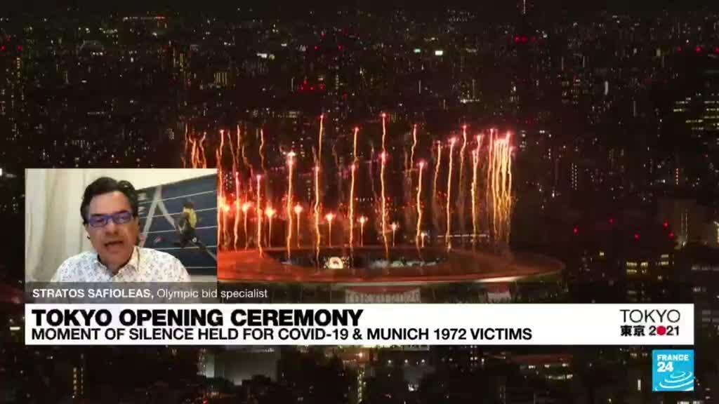 2021-07-23 16:03 Pandemic-hit Tokyo Olympics open in low-key ceremony without fans