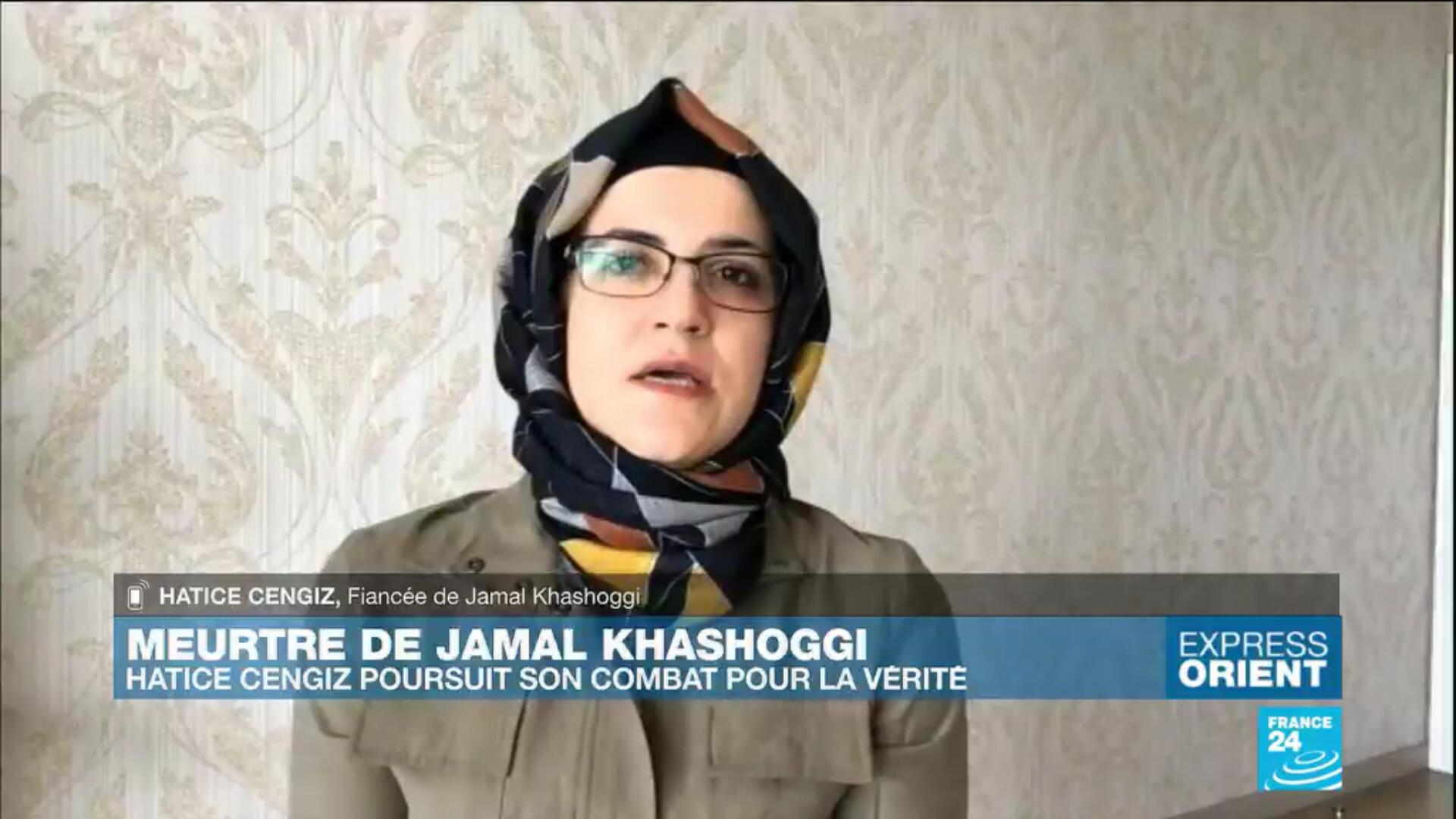 Hatice Cengiz, fiancée du journaliste saoudien Jamal Khashoggi, assassiné en 2018.