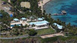 Vista aérea de la isla Little Saint James, una de las propiedades incluida en el testamento de Jeffrey Epstein el 21 de Julio de 2019