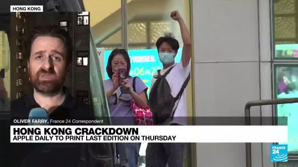 2021-06-23 19:07 Apple Daily to close, last pro-democracy Hong Kong newspaper