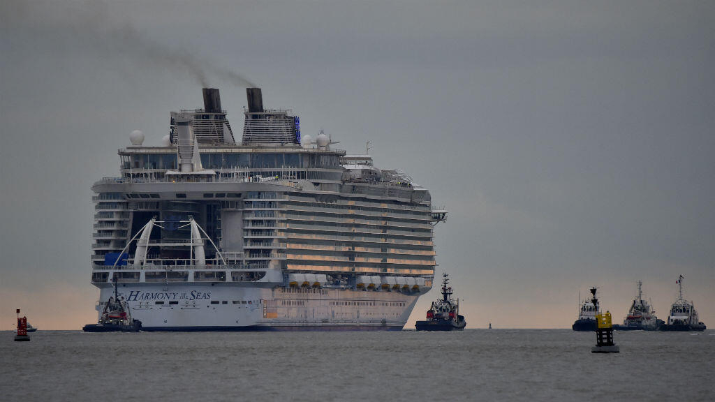 In pictures: World's biggest liner bids 'adieu' to French shipyard