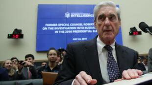 L'ex-conseiller spécial Robert Mueller lors de son audition à la Chambre des représentants, le 24juillet.