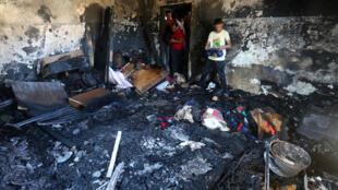 المنزل الفلسطيني الذي تعرض للحرق بالضفة الغربية 31 يوليو/تموز 2015