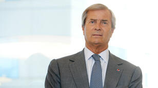 Vincent Bolloré, le 21 avril 2017, à la Défense, à Paris.