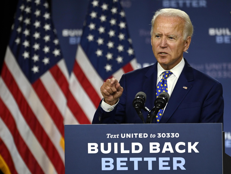 Le candidat démocrate à la présidentielle américaine, Joe Biden, le 28 juillet 2020, à Wilmington, dans le Delaware.