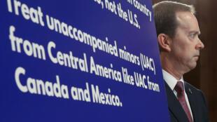 El jefe interino de Aduanas y Protección Fronteriza, John Sanders, durante una conferencia de prensa en el Capitolio. Washington, 15 de mayo de 2019.