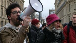 مظاهرة سابقة ضد إصلاح قانون العمل في فرنسا