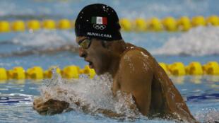 Héctor Ruvalcaba de México compite en 200 metros combinado individual masculino. 22/7/18