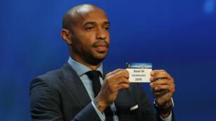 Thierry Henry, lors du tirage au sort de la Ligue des champions effectué par l'UEFA, le 25 août 2016.
