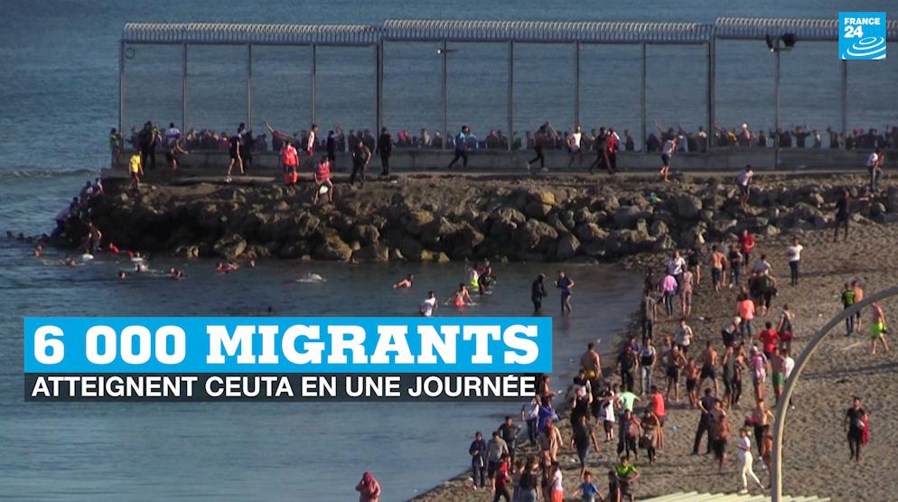 6 000 migrants atteignent Ceuta en une journée