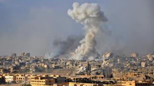 La ville de Deir Ezzor, le 31 octobre 2017, en Syrie.