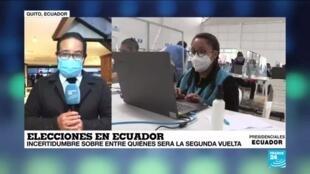 2021-02-09 00:06 Informe desde Quito: Yaku Pérez asegura que existe un presunto fraude en las presidenciales
