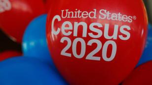 Los globos decoran un evento que marcó el lanzamiento de un año de los esfuerzos del Censo 2020 en Boston, Massachusetts, EE. UU., el 1 de abril de 2019.