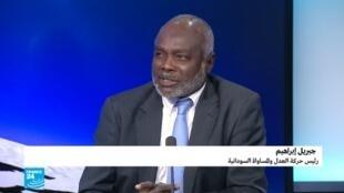 جبريل إبراهيم رئيس حركة العدل والمساواة السودانية