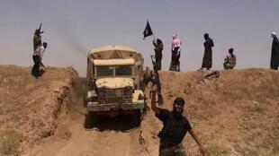 Des jihadistes de l'organisation de l'État islamique