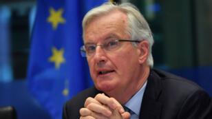 Michel Barnier, le négociateur de l'UE pour le Brexit, au Parlement européen, à Bruxelles, le 2avril2019.