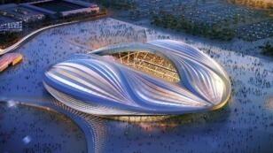 صورة كمبيوتر لاستاد الوكرة الذي يجري بناؤه لمونديال 2022 في قطر