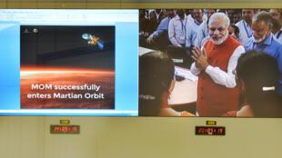 Narendra Modi, le premier ministre indien, ravi du succès de la mission Mars Orbiter