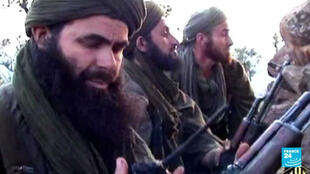 Abdelmalek Droukdel, aka Abu Musab Abdul Wadud, the head of al Qaeda in the Islamic Maghreb (AQIM), seen here in a screen grab from a propaganda video released by the group.