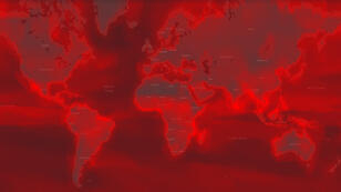 La carte de l'exposition aux effets cumulés du rechauffement climatique établie par les auteurs de l'étude sur les catastrophes naturelles en série
