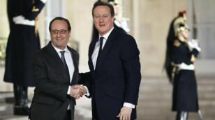 """Le Premier ministre britannique a rendu visite à François Hollande à Paris pour discuter du """"Brexit"""", le 15 février 2016."""